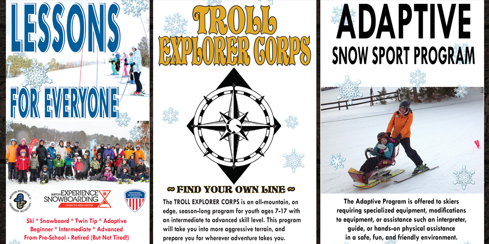LESSON PROGRAMS FOR SKI & SNOWBOARD AT TROLLHAUGEN | WISCONSIN WI x MINNESOTA MN