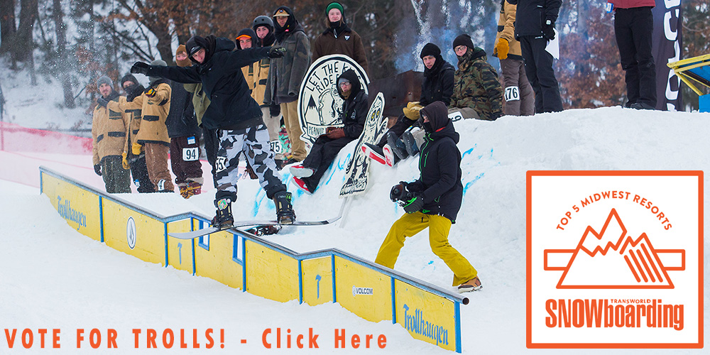 Trollhaugen in Transworld Snowboarding Park / Resort Poll