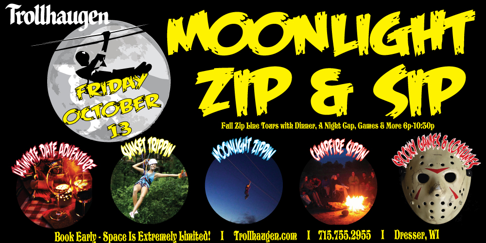 Moonlight Zip & Sip @ Trollhaugen