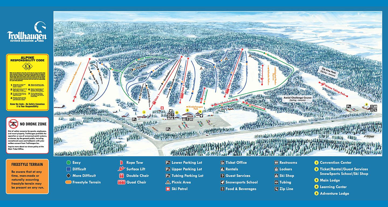 trollhaugen outdoor recreation area | minnesota wisconsin ski resort